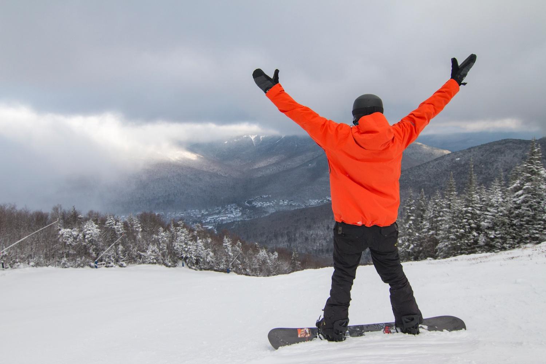 Snowboarding White Mountains