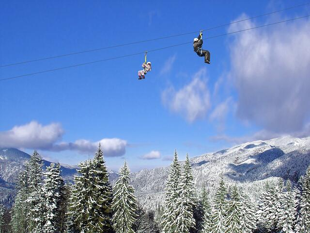 Alpine Adventures Winter Zipline