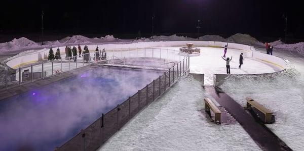 ice skating and pool