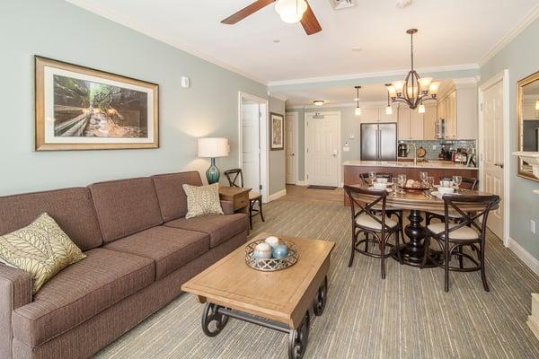 RiverWalk suite living room