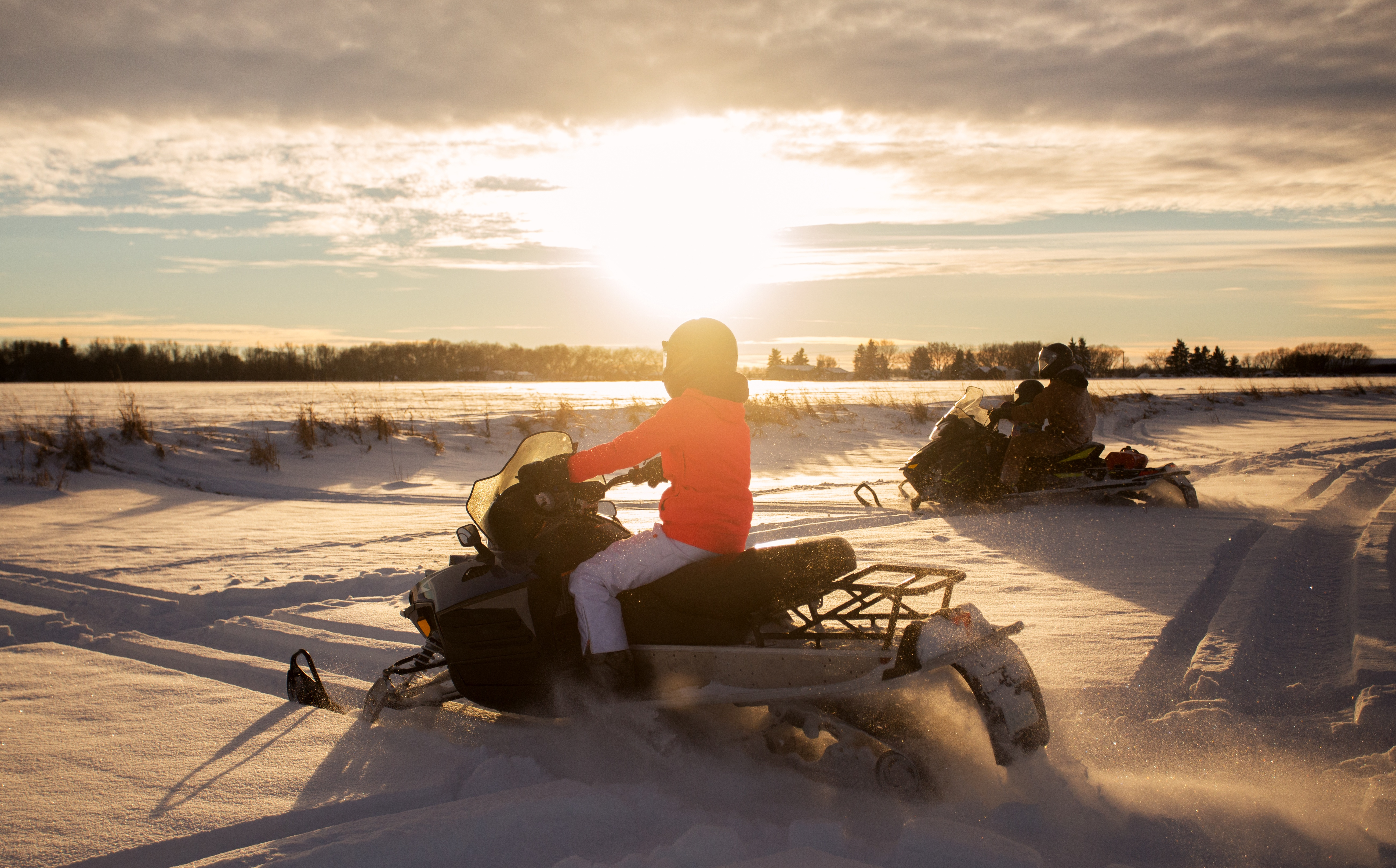 Snowmobiling White Mountains