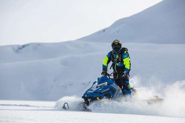 action packed snowmobiling